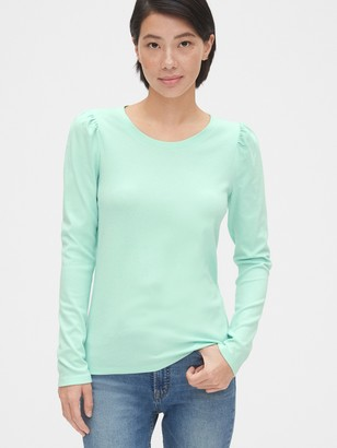 Gap Cozy Puff Sleeve Crewneck T-Shirt