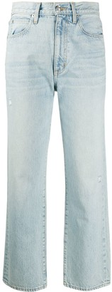 SLVRLAKE Cropped High-Waisted Jeans