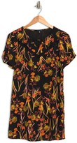 Thumbnail for your product : 19 Cooper Floral Short Sleeve Mini Dress