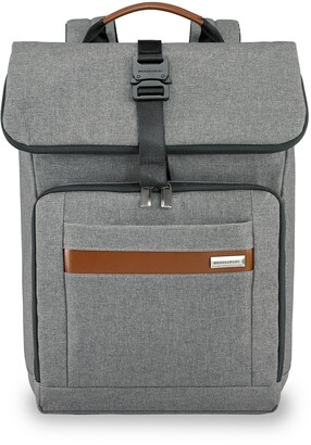 Briggs & Riley Medium RFID Pocket Foldover Laptop Backpack