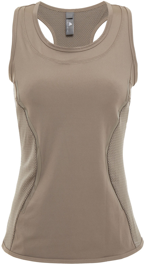 Thumbnail for your product : adidas by Stella McCartney Mesh-paneled Stretch Tank