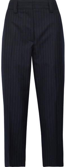 Acne Studios Trea Pinstriped Wool-twill Straight-leg Pants - Midnight blue