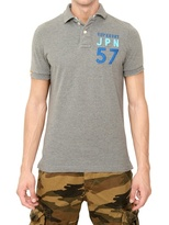 Superdry Appliqué Cotton Piquet Polo