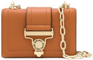 Versace Foldover Top Chain Strap Shoulder Bag