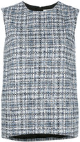 Lanvin tweed top - women - Silk/Cotton/Acrylic/Viscose - 36