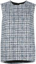Lanvin tweed top - women - Silk/Cotton/Acrylic/Viscose - 38