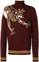 Dolce & Gabbana crowned leopard knit jumper