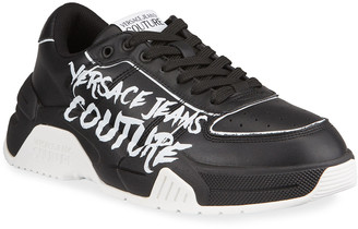 Versace Men's Two-Tone Chunky Sneakers