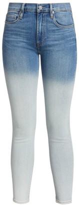 Hudson Barbara High-Rise Dip-Dye Skinny Jeans