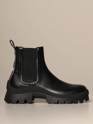 DSQUARED2 Ankle Boot In Leather With Logoed Band