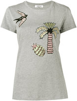 Valentino Tropical Dream appliqué T-shirt - women - Cotton - XS