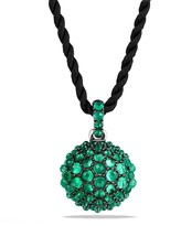 David Yurman Osetra Pendant Necklace with Green Onyx
