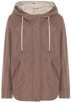 Brunello Cucinelli Hooded cotton-blend jacket