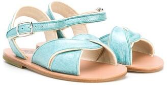 Pépé Low-Heel Open-Toe Sandals