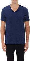 Theory MEN'S GASKELL COTTON V-NECK T-SHIRT-BLUE SIZE S