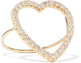 Jennifer Meyer Open Heart 18-karat Gold Diamond Ring - 4 1/4