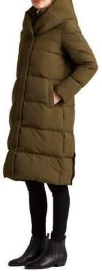 Lauren Ralph Lauren Oversized-Collar Down Coat