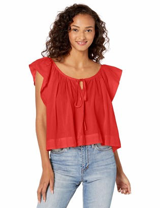 Enza Costa Women's Voile Flounce Shell Top