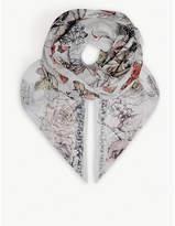 Alexander McQueen Crawling Rose silk scarf