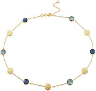 Auree Jewellery Como Blue Topaz London Topaz & Yellow Gold Vermeil Necklace