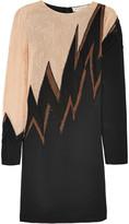Emilio Pucci Lace and mesh-paneled silk-blend mini dress