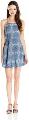 Motel Rocks Women's Mahogani Print Open Back Dress