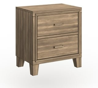 Furniture of America Malt Contemporary Grey Solid Wood Nightstand