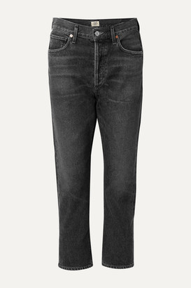 Citizens of Humanity Charlotte Cropped High-rise Straight-leg Jeans - Charcoal