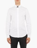Valentino White Buckle-Collar Shirt