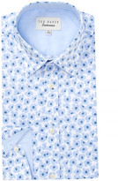 Ted Baker Farnley Floral Trim Fit Dress Shirt