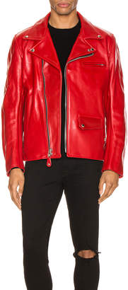 Junya Watanabe x Schott Leather Jacket in Red | FWRD