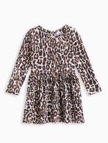 Splendid Little Girl Animal Print Loose Knit Dress