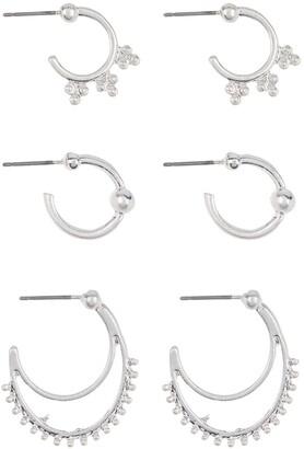Area Stars Novelty Crescent Earrings Set - Set of 3