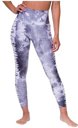 Onzie High Basic Graphic Midi (Light Gray Tie-Dye) Women's Casual Pants