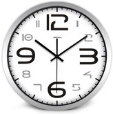 Airinou Big Number Digit Classical Tradition Wall Clock for Seniors No Ticking Sound Black and White