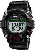 Carlien Mens Outdoor Casual Sport Waterproof Watch Boys Electronic Digital Chronograph Alarm Watches