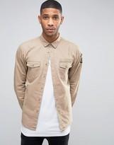 Brave Soul Military Badged Shirt Jacket