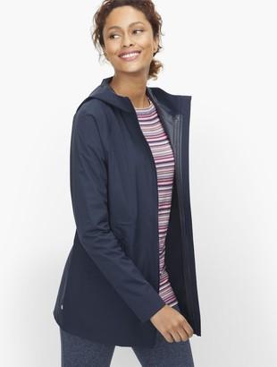 Talbots Water Resistant Hooded Rain Jacket