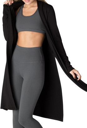 Beyond Yoga Side-Slit Long Duster Sweater