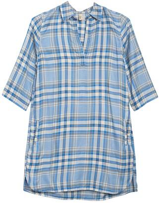 Elan International Plaid Print Tunic Shirt