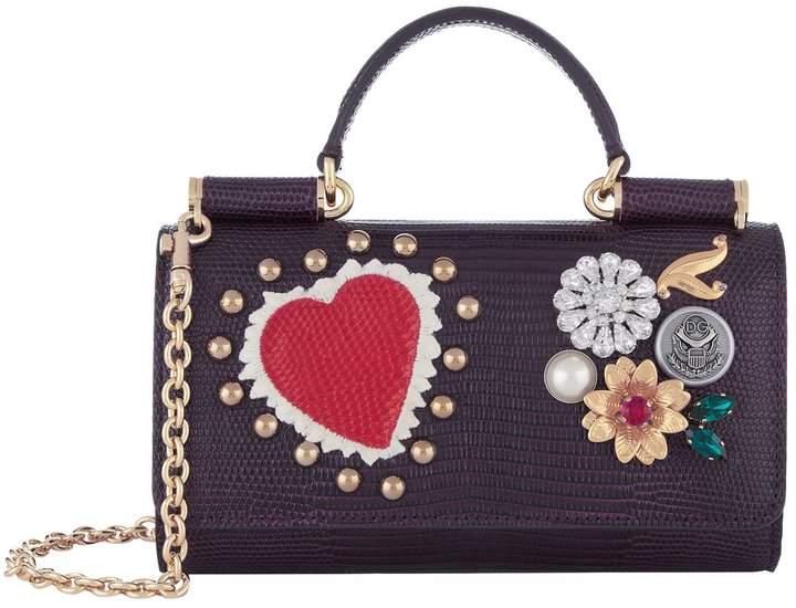 Dolce & Gabbana Embellished Phone Bag