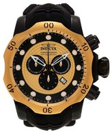 Invicta Men's 20444 Venom Quartz Chronograph Gold Dial Strap Watch - Black