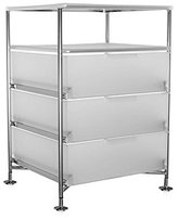 Kartell Mobil - opalIce three-drawer container with shelf (Original made in Italy)
