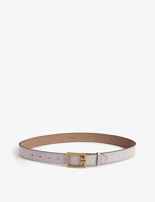 Givenchy Logo buckle leather belt
