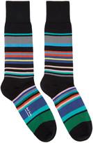 Paul Smith Black Spag Stripe Socks