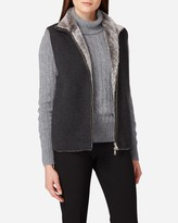 N.Peal Milano Fur Lined Cashmere Gilet