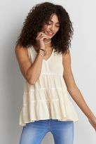 American Eagle Outfitters AE Washed Babydoll Top