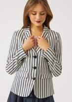 Emporio Armani striped linen blend jacket