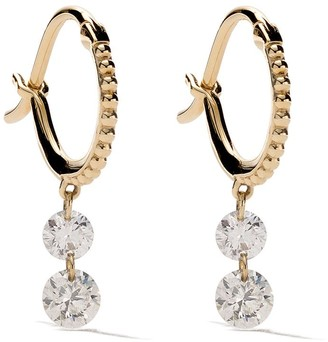 Raphaele Canot 18kt yellow gold Set Free Double Drop Diamond earrings