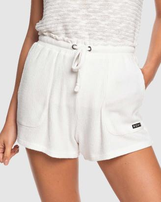 Roxy Womens Staying In Cosy Rib Knit Shorts